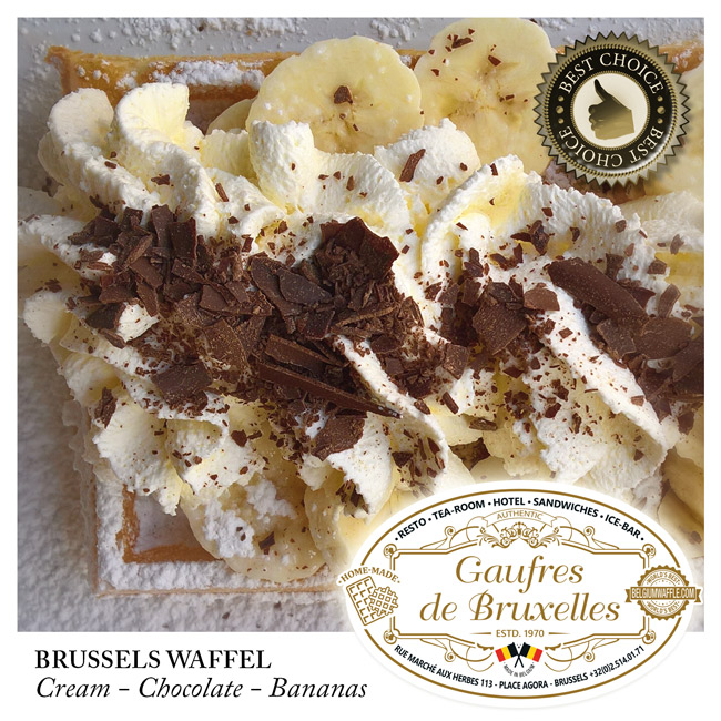 waffle, banana