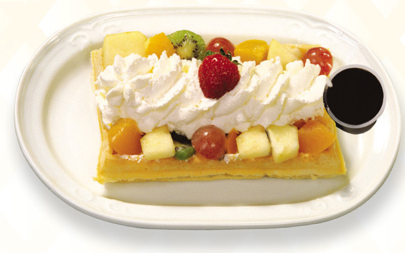 Gaufre belge - Mix de fruits