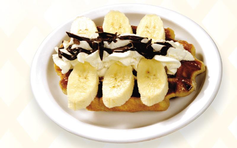 Liège waffle banana
