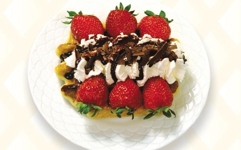 Liège waffle strawberry