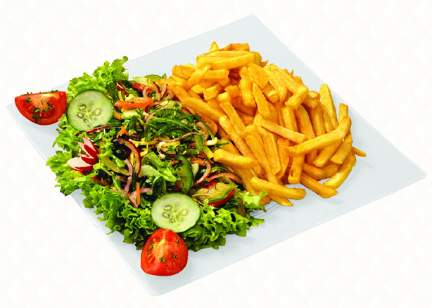 Salad & fries